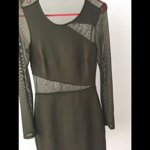 Silence and Noise XS mesh bodycon dress